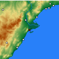Nearby Forecast Locations - Sant Carles de la Ràpita - Carte