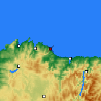 Nearby Forecast Locations - Burela - Carte