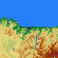 Nearby Forecast Locations - Ribadeo - Carte