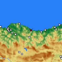Nearby Forecast Locations - Ondarroa - Carte