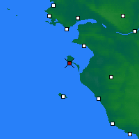 Nearby Forecast Locations - Île de Noirmoutier - Carte