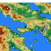 Nearby Forecast Locations - Kato Alepochori - Carte