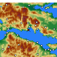 Nearby Forecast Locations - Galaxidi - Carte
