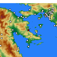 Nearby Forecast Locations - Archea Epidavros - Carte