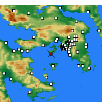 Nearby Forecast Locations - Peristeria - Carte