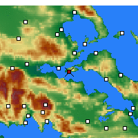 Nearby Forecast Locations - Aghios Georgios - Carte