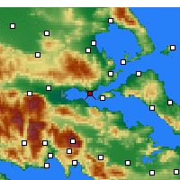 Nearby Forecast Locations - Paralia Rachon - Carte