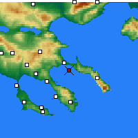 Nearby Forecast Locations - Ammoulianí - Carte