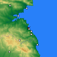 Nearby Forecast Locations - Kiten - Carte