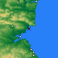Nearby Forecast Locations - Nessebar - Carte