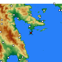Nearby Forecast Locations - Spetses - Carte