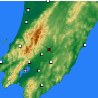 Nearby Forecast Locations - Masterton - Carte