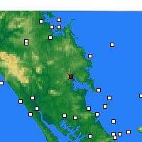 Nearby Forecast Locations - Whangarei - Carte