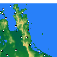 Nearby Forecast Locations - Whangamata - Carte