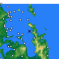 Nearby Forecast Locations - Motukawao Island - Carte