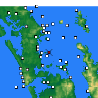 Nearby Forecast Locations - Tiritiri Matangi Island - Carte