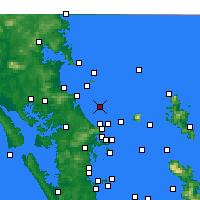 Nearby Forecast Locations - Te Arai Point - Carte