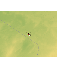 Nearby Forecast Locations - Bordj Badji Mokhtar - Carte
