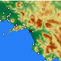 Nearby Forecast Locations - Salerne - Carte