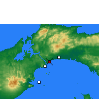 Nearby Forecast Locations - Panama - Carte