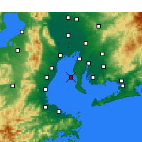 Nearby Forecast Locations - Tokoname - Carte