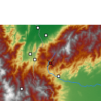 Nearby Forecast Locations - San Cristóbal - Carte