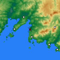 Nearby Forecast Locations - Bolchoï Kamen - Carte