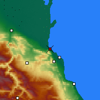 Nearby Forecast Locations - Makhatchkala - Carte