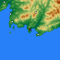 Nearby Forecast Locations - Nakhodka - Carte
