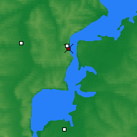 Nearby Forecast Locations - Tetiouchi - Carte
