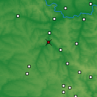Nearby Forecast Locations - Droujkivka - Carte