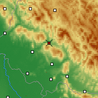 Nearby Forecast Locations - Svaliava - Carte