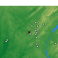 Nearby Forecast Locations - Hueytown - Carte
