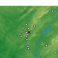 Nearby Forecast Locations - Mountain Brook - Carte