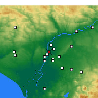 Nearby Forecast Locations - Séville - Carte