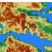 Nearby Forecast Locations - Amphissa - Carte