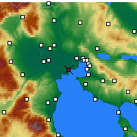 Nearby Forecast Locations - Chalastra - Carte