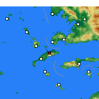 Nearby Forecast Locations - Dikaios - Carte