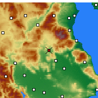 Nearby Forecast Locations - Elassóna - Carte