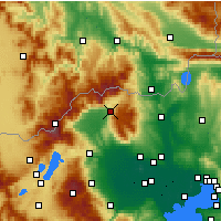 Nearby Forecast Locations - Exaplatanos - Carte