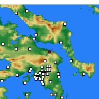 Nearby Forecast Locations - Kalamos - Carte