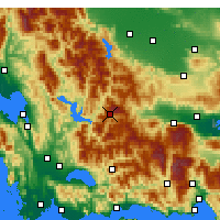 Nearby Forecast Locations - Karpenisi - Carte