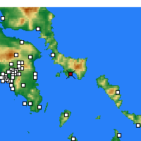 Nearby Forecast Locations - Carystos - Carte