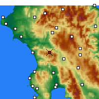Nearby Forecast Locations - Andritsaina - Carte