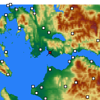 Nearby Forecast Locations - Missolonghi - Carte