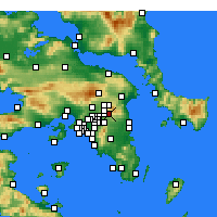 Nearby Forecast Locations - Nea Penteli - Carte