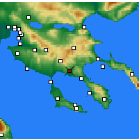 Nearby Forecast Locations - Ormylia - Carte