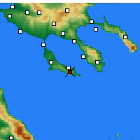 Nearby Forecast Locations - Pallini - Carte
