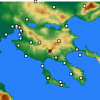 Nearby Forecast Locations - Polygyros - Carte