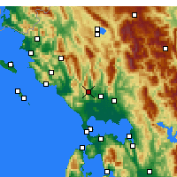 Nearby Forecast Locations - Thesprotiko - Carte